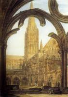 Josef Mallord William Turner, Vista del clausto de la catedral de Salisbury, hacia 1802