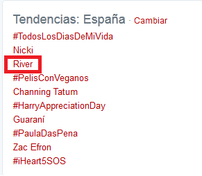 River dominó hasta en Twitter (River-Guaraní) + YAPA