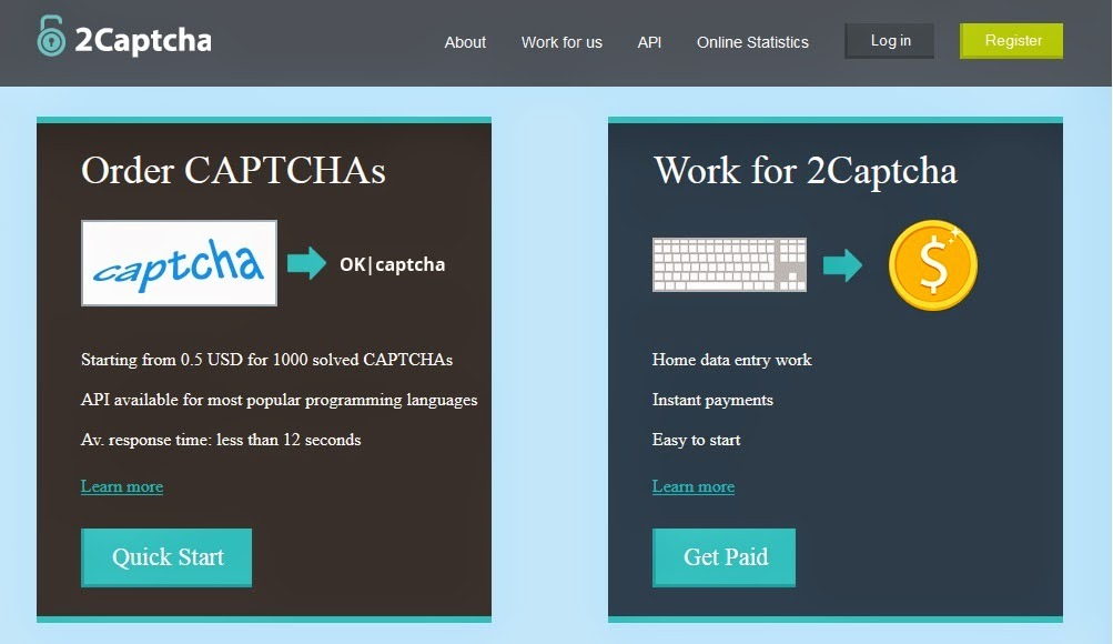 ¡Negocio Rentable Por Internet Con 2CAPTCHA!