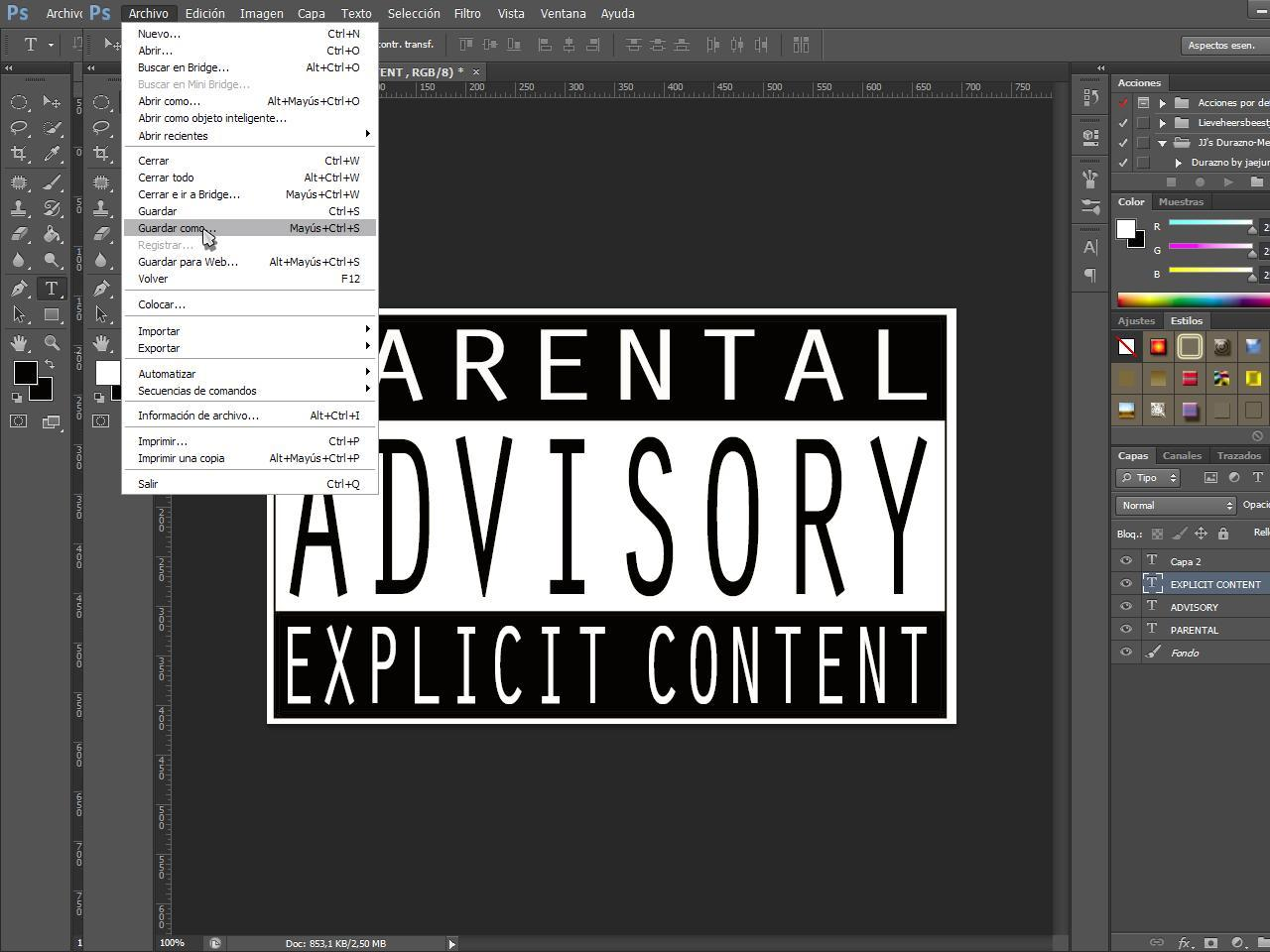 "Como Hacer""Parental Advisory Content Explicit"" 201"