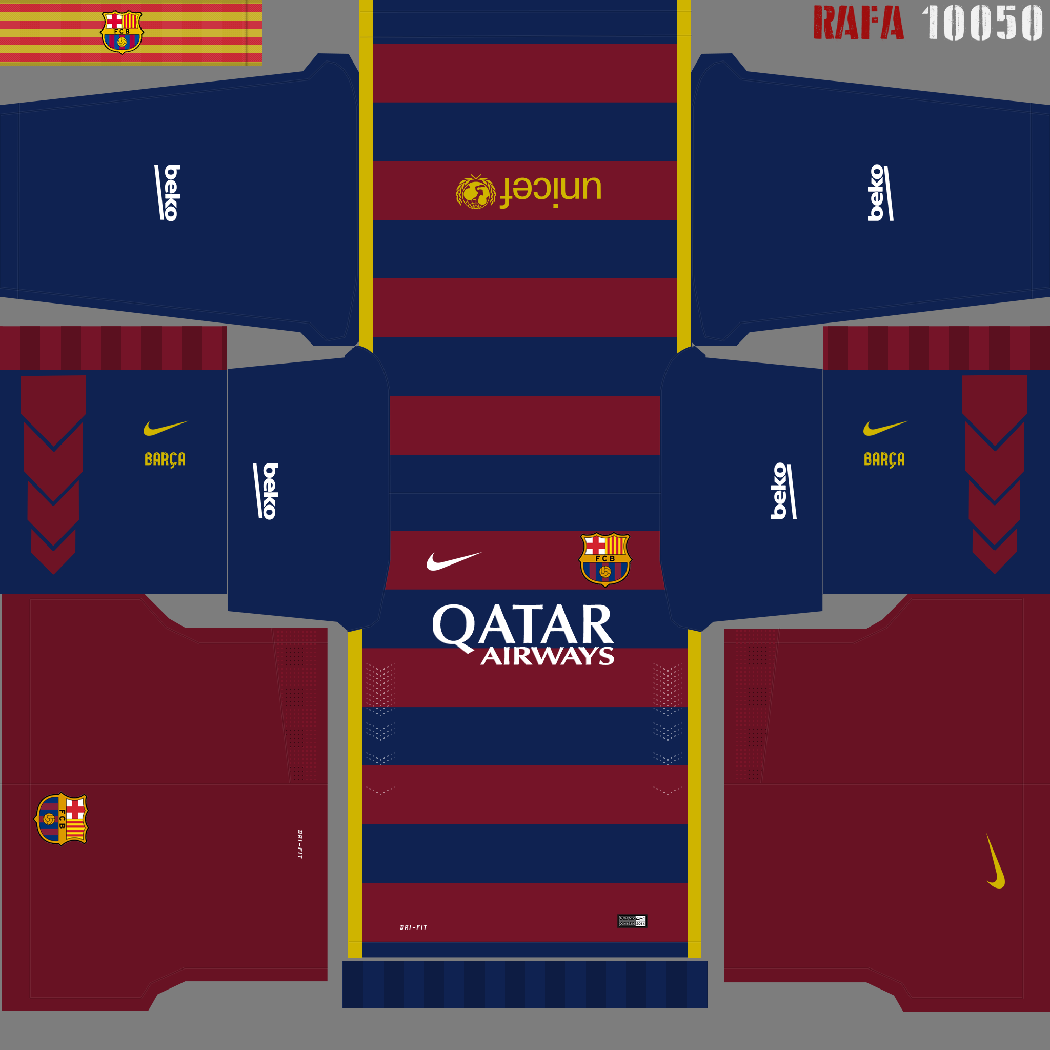 Kit Real Madrid Para Pes 2019: [Aporte] Kit Barcelona 15/16 (Local)