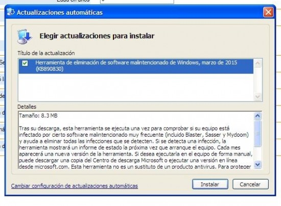 #WindowsXP #Windows Windows pleno 2015 sigue recibiendo actualizaciones según iba hacer. Que raro.