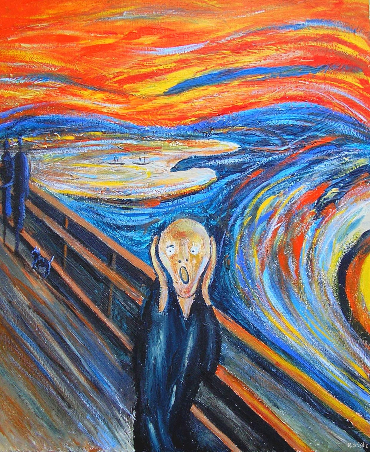 amazoncom the scream of nature edvard munch art print - 760×928