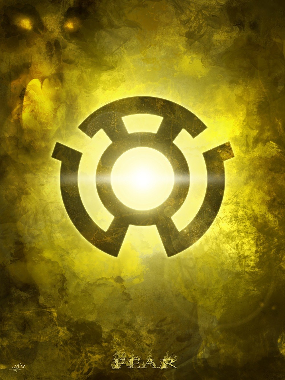 yellow lantern oath - HD 1000×1333
