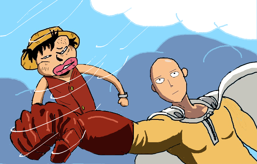 Dibuje One Punch Man vs Juan pis y te lo muestro