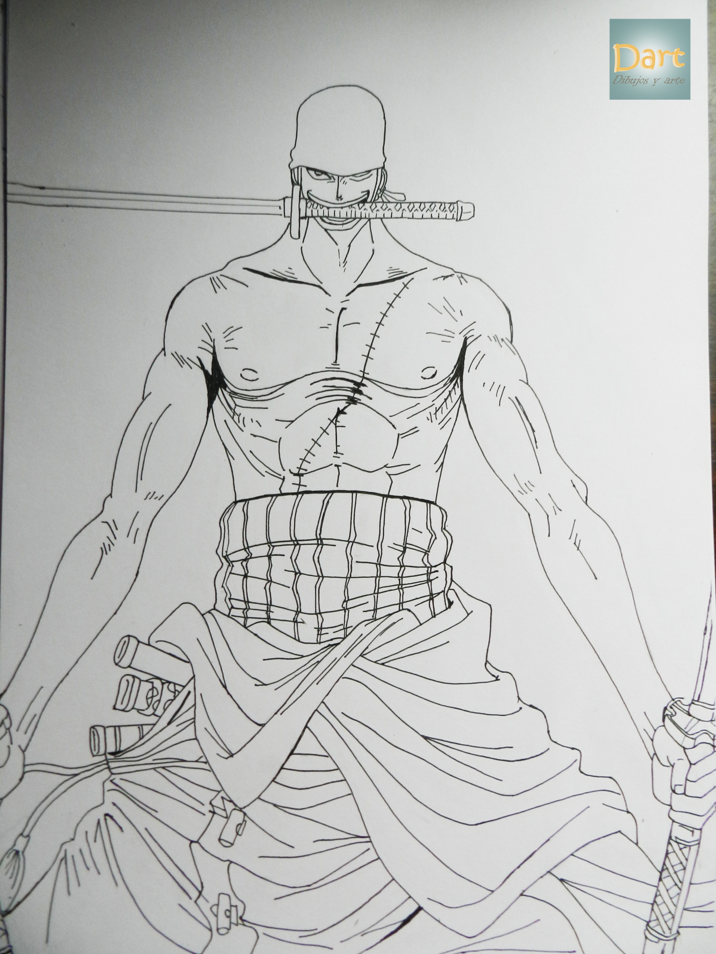 Dibujando a roronoa zoro one piece dibujos y arte for Dibujos one piece